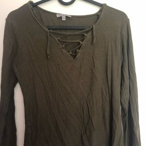 Charlotte Russe Front Tie Top